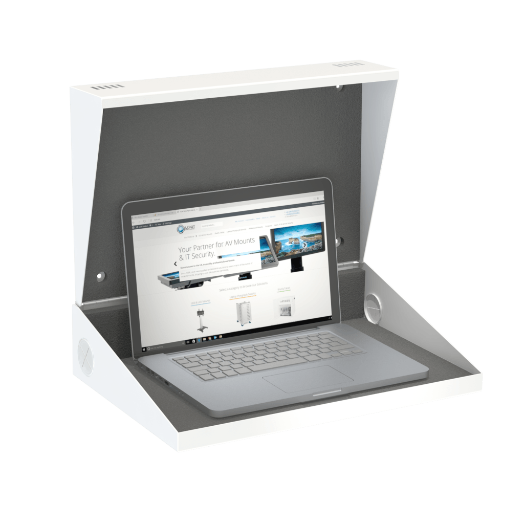 Wall Mounted Secure Laptop Cabinet Single Loxit Limited