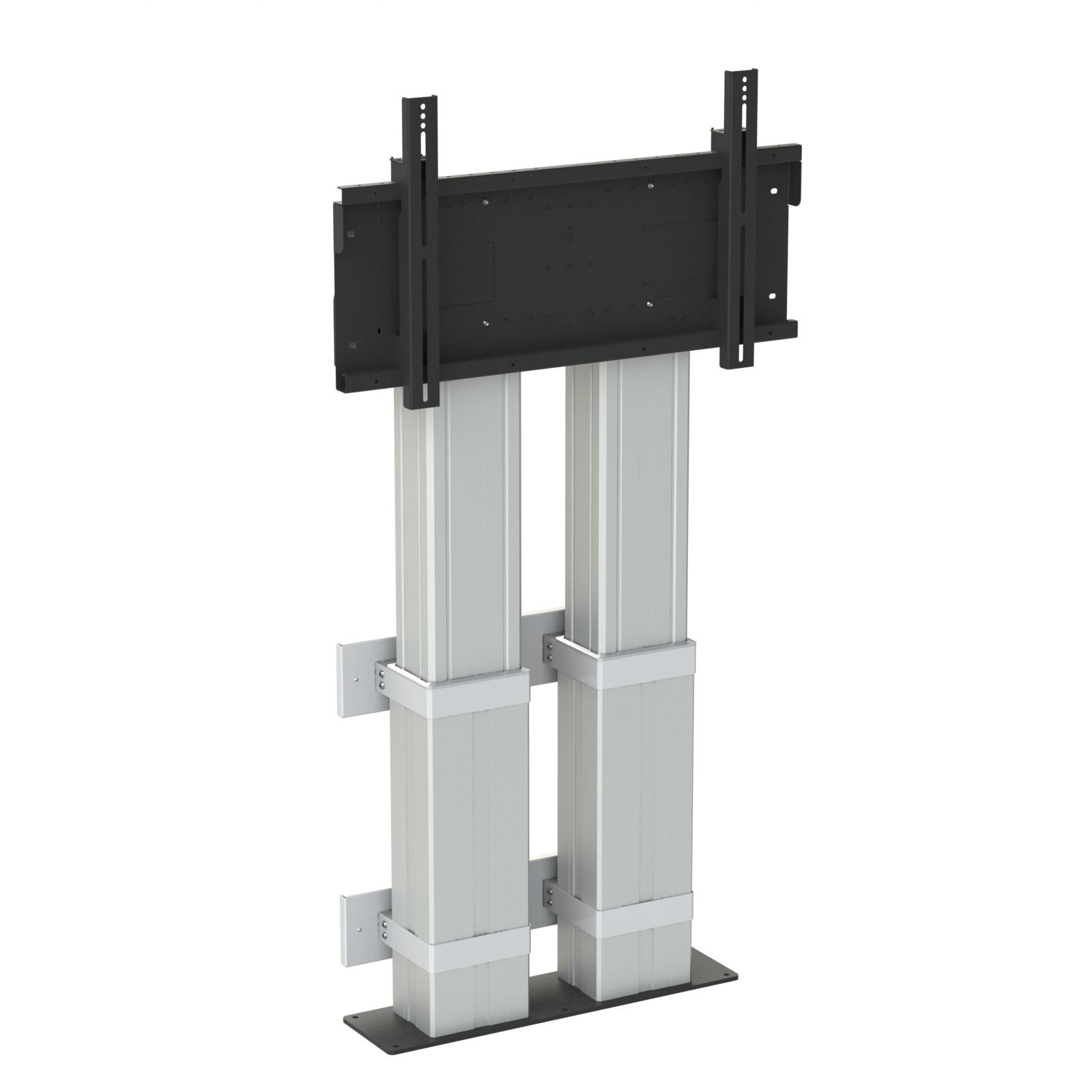 Hi lo mono 500 electric heavy duty wall to floor screen for Motorized floor up screen